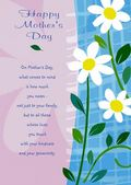 Mother's Day Card-White Daisies Card